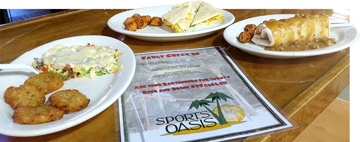 Oasis Volleyball Bar & Grill Breakfast
